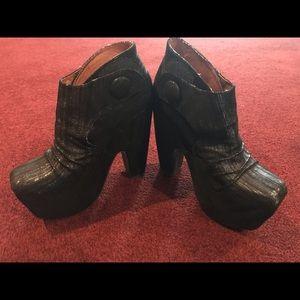 Jeffrey Campbell black booties Size 6.5